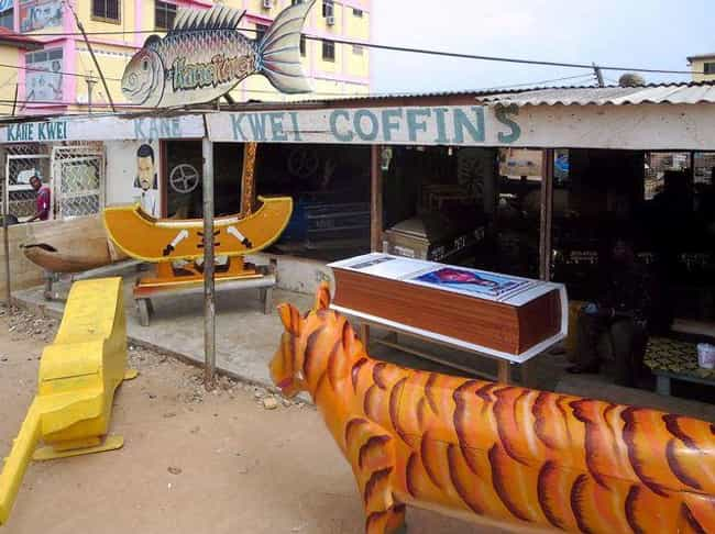 "It's a Surprisingly Recent... is listed (or ranked) 3 on the list 8 Weird Facts About Ghana's Insanely Elaborate ""Fantasy Coffins"""