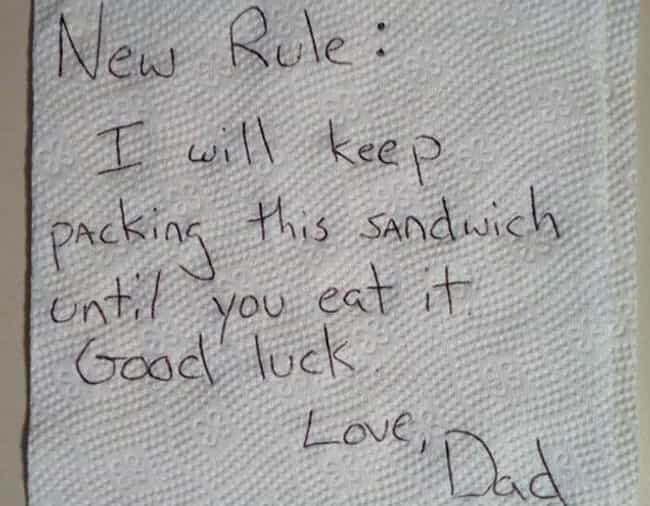 We Meat Again is listed (or ranked) 4 on the list 23 Hilarious Notes from Moms and Dads
