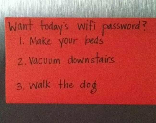 You Shall Not Pass! is listed (or ranked) 2 on the list 23 Hilarious Notes from Moms and Dads