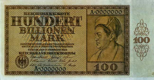 German Marks and the World War... is listed (or ranked) 3 on the list 12 Times Currency Was Rendered Almost Worthless (and Why)