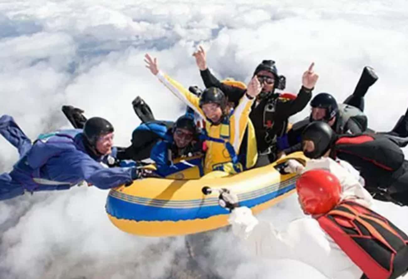 White Cloud Rafting is listed (or ranked) 2 on the list The 16 Funniest Photos in Skydiving History