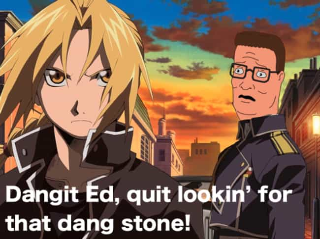 Typical Stoner is listed (or ranked) 3 on the list 23 Bwah-some Pieces of King of the Hill Anime Mashup Art