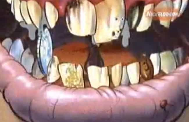 Grit your Teeth is listed (or ranked) 4 on the list The Most Gruesome Close-Ups On 'Ren & Stimpy'