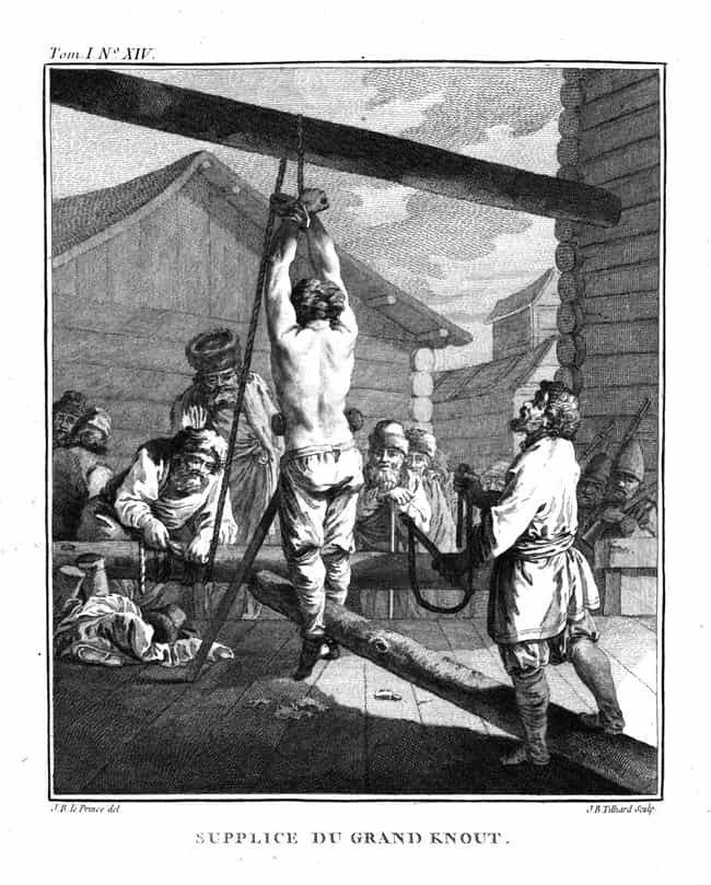 Flogging is listed (or ranked) 3 on the list 15 Brutal Military Punishments throughout History to the Modern Age