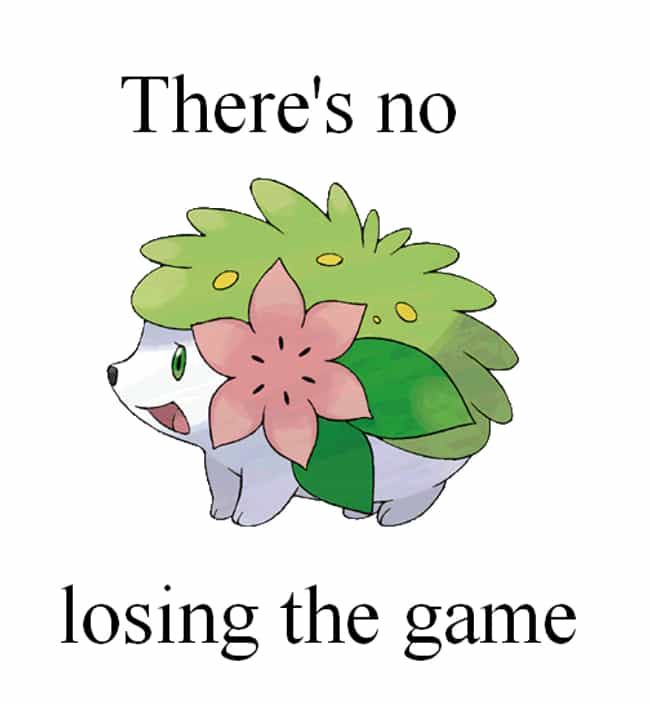 No Shaymin failure is listed (or ranked) 8 on the list Pokemon Puns Memes Eeveeryone Will Love