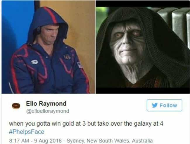 The Resemblance Is Strong is listed (or ranked) 1 on the list 23 Memes That Will Immortalize Michael Phelps Forever
