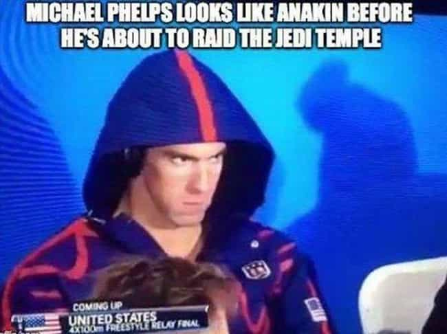 Revenge of the Phelps is listed (or ranked) 3 on the list 23 Memes That Will Immortalize Michael Phelps Forever