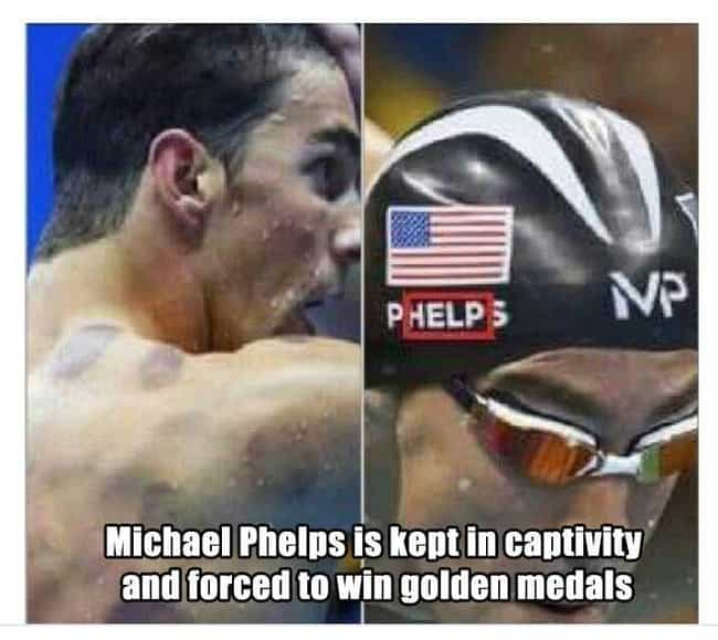 How Has No One Noticed This Ye... is listed (or ranked) 2 on the list 23 Memes That Will Immortalize Michael Phelps Forever