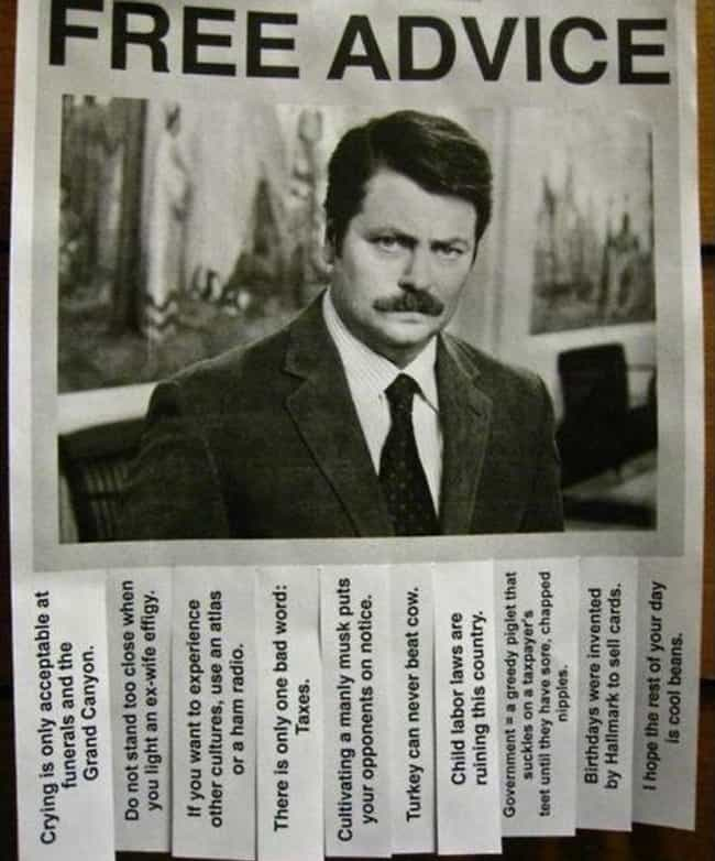 A Little Strip of Free Advice is listed (or ranked) 4 on the list 22 Hilarious Fliers Found on College Campuses