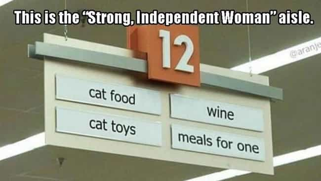 Forever Alone Aisle is listed (or ranked) 1 on the list The Funniest Grocery Store Aisles Ever