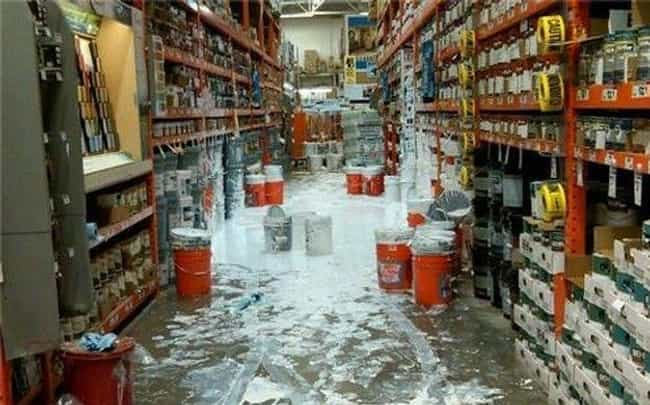 Paint the Town White is listed (or ranked) 4 on the list The Funniest Moments in Home Depot History