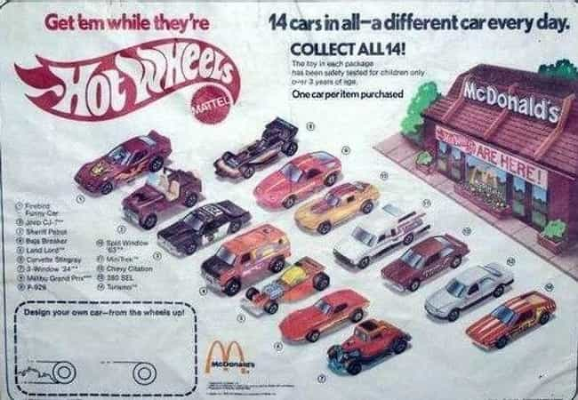 Hot Wheels is listed (or ranked) 2 on the list The Best McDonald's Happy Meal Toys of the '80s