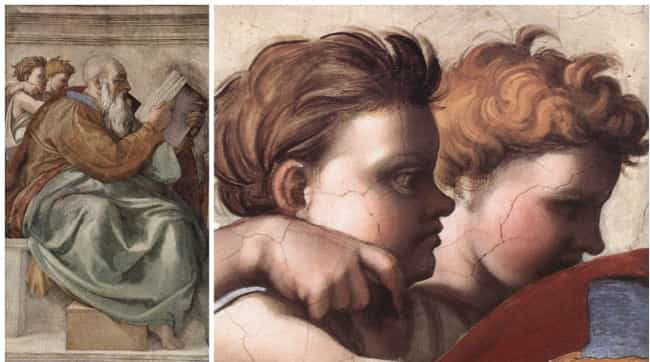 Michelangelo: Zechariah (1508-... is listed (or ranked) 4 on the list 12 Symbols and Codes Hidden in Renaissance Art That You Never Would Have Noticed