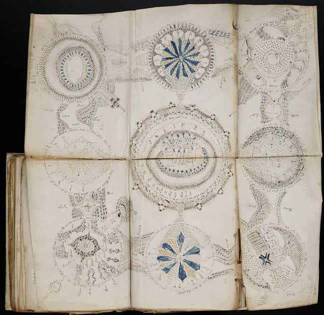 The Voynich Manuscript (1404–1... is listed (or ranked) 3 on the list 12 Symbols and Codes Hidden in Renaissance Art That You Never Would Have Noticed
