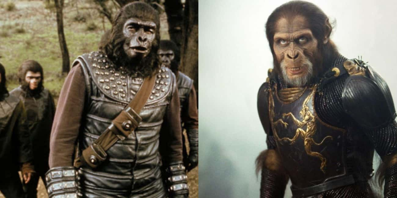 The Apes (Planet of the Apes) is listed (or ranked) 2 on the list Famous Villains Whose Looks Have Totally Changed