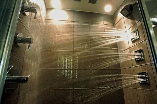 This Japanese Shower is listed (or ranked) 2 on the list Genius Bathroom Inventions You Didn't Realize You Needed