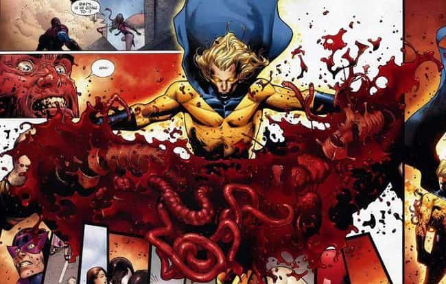 Ares Is ALSO Ripped in Half is listed (or ranked) 4 on the list Insanely Gory Moments in Marvel Comic History You Can't Unsee