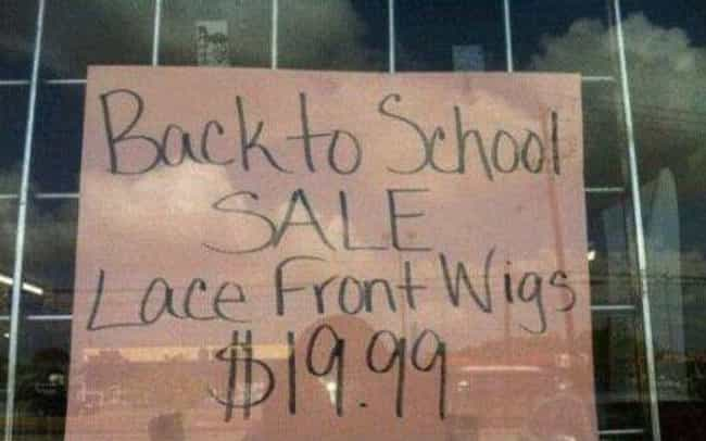 "Wigging Out is listed (or ranked) 4 on the list 27 Back to School Sales That Get an ""F"" for FAIL"