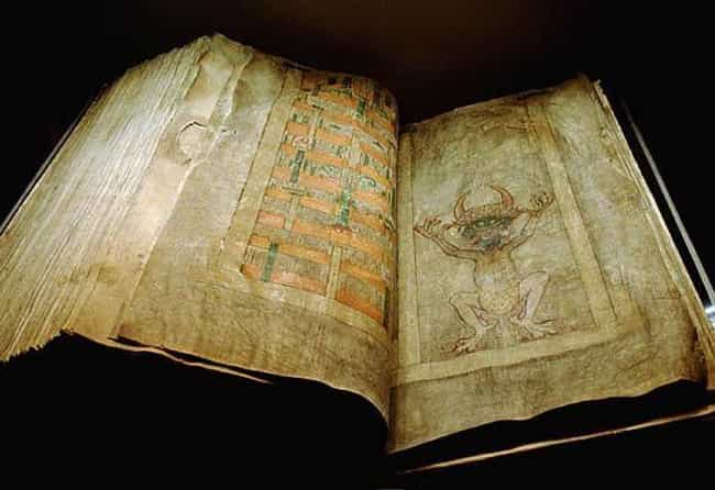 'The Devil's Bible' is listed (or ranked) 1 on the list 17 Eerie and Incredible Unsolved Ancient Mysteries from Around the World