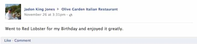 This Guy Can't Resist th... is listed (or ranked) 1 on the list 28 Times Old People Wrote on a Restaurant's Facebook Page and It Was Hilarious