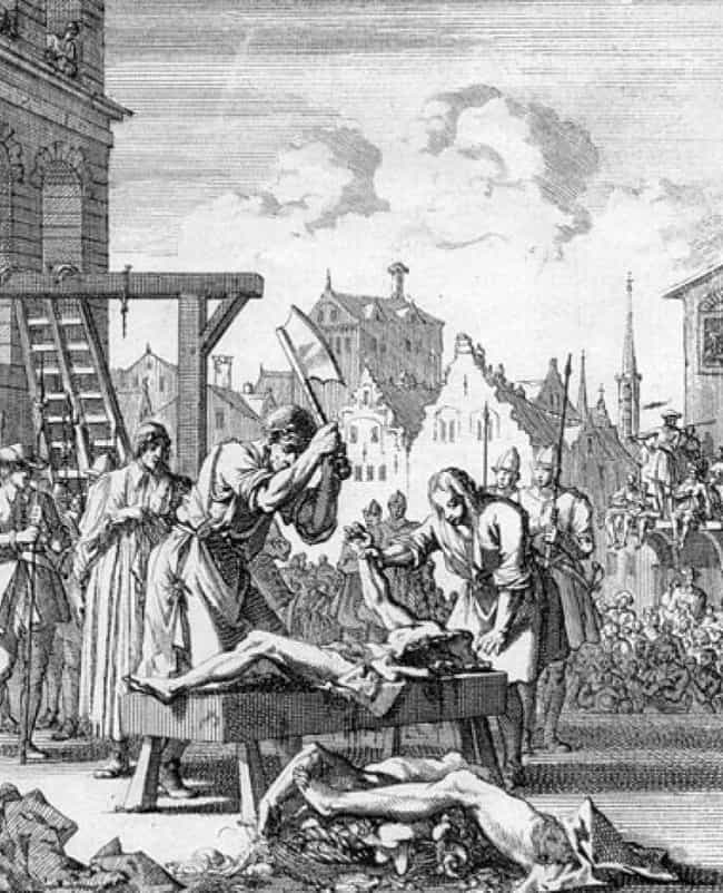 Hanged, Drawn, and Quartered is listed (or ranked) 3 on the list Gruesome Ways People Were Executed In The Time Of Henry VIII