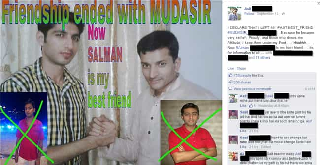 Mudasir Crosses The Line... is listed (or ranked) 2 on the list The Best of Indian People Facebook