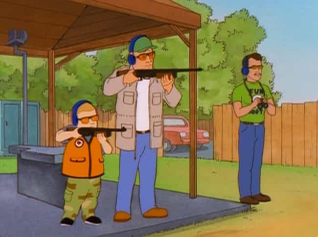 Bobby Being a Natural Marksman is listed (or ranked) 2 on the list 12 Times Hank Was Genuinely Proud of Bobby on King of the Hill