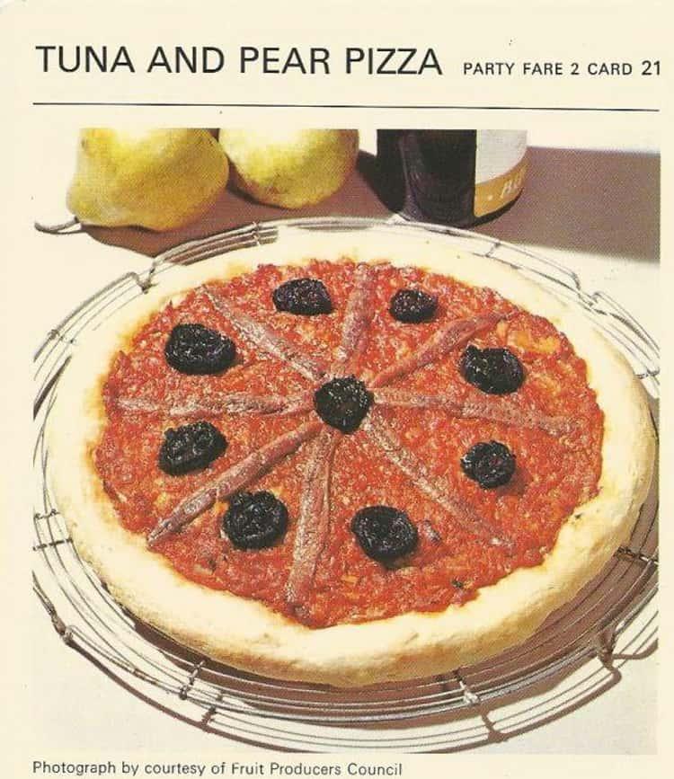 Tuna and Pear Pizza