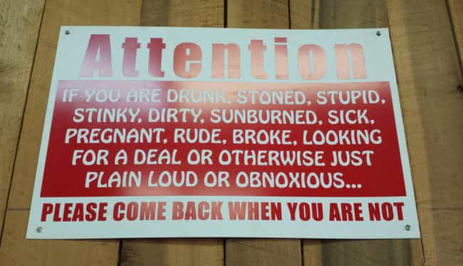 See You Tomorrow is listed (or ranked) 2 on the list 22 Hilarious Tattoo Shop Signs You Can't Help But Laugh At