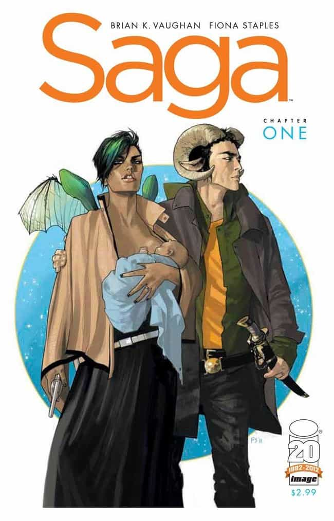 Saga is listed (or ranked) 3 on the list The Best Graphic Novels Not About Superheroes