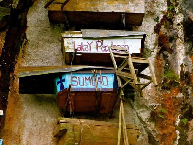 There's a Story Behind Tho... is listed (or ranked) 2 on the list 7 Fascinating Facts About the Hanging Coffins of the Philippines