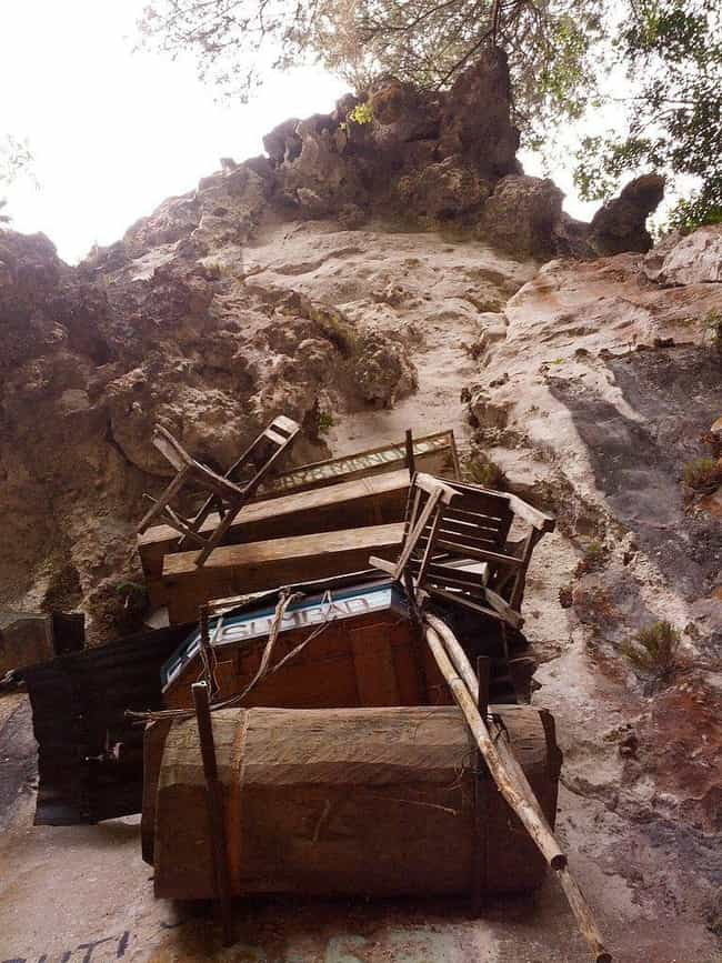 The Tiny Coffins Aren't fo... is listed (or ranked) 3 on the list 7 Fascinating Facts About the Hanging Coffins of the Philippines
