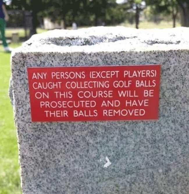 22 Funny Signs That Avid Golfers Will Appreciate