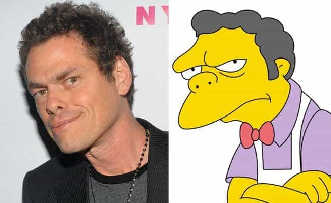 Moe Szyslak is listed (or ranked) 4 on the list 21 Real People Who Look Just Like Simpsons Characters