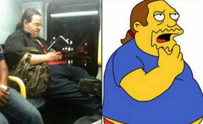 Comic Book Guy is listed (or ranked) 4 on the list 21 Real People Who Look Just Like Simpsons Characters