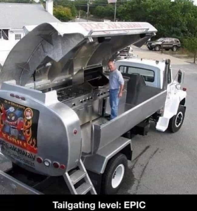 Size Does Matter is listed (or ranked) 1 on the list 25 Perfect Examples of Tailgating Done Right