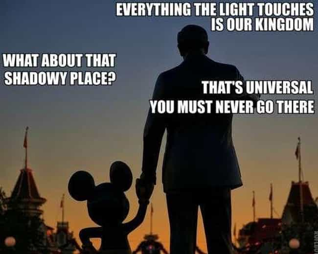 In the Shadows is listed (or ranked) 4 on the list 25 Memes That Pretty Much Sum Up Every Trip to Disneyland