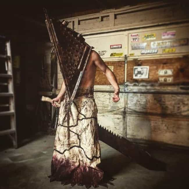 Pyramid Head is listed (or ranked) 4 on the list 19 Insanely Awesome and Unbelievably Accurate Horror Cosplays