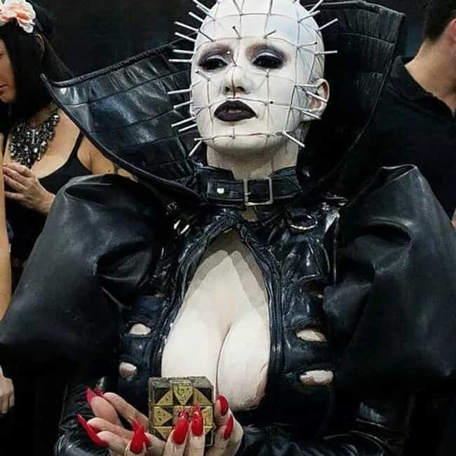 Pinhead is listed (or ranked) 5 on the list 19 Insanely Awesome and Unbelievably Accurate Horror Cosplays
