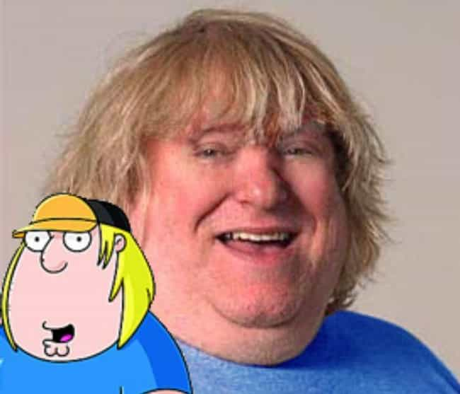 Chris Griffin and Bruce Vilanc... is listed (or ranked) 4 on the list 24 Real People Who Look Exactly Like Family Guy Characters