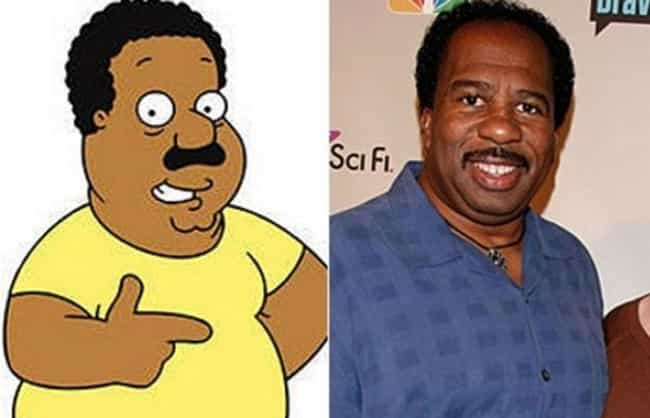 Cleveland and Leslie Dav... is listed (or ranked) 3 on the list 24 Real People Who Look Exactly Like Family Guy Characters