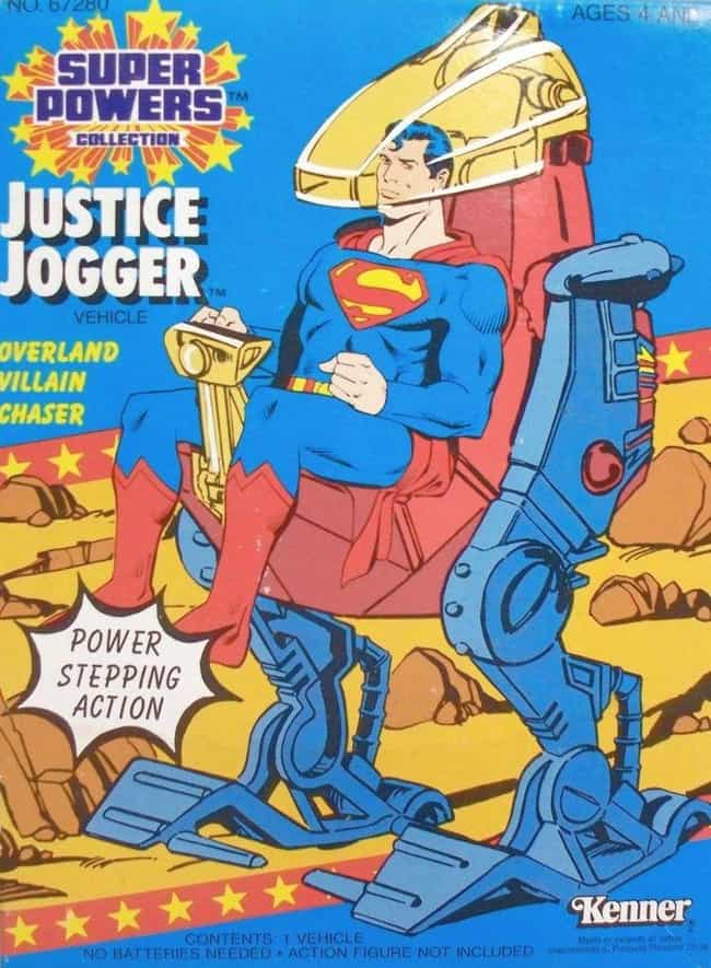 Superman Justice Jogger is listed (or ranked) 1 on the list 14 Incredibly Lame Superhero Vehicle Toys That No '90s Kid Wanted
