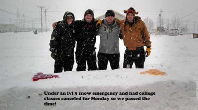 Snow Problem at All is listed (or ranked) 3 on the list Photos That Will Make You Wish You Were In College Again