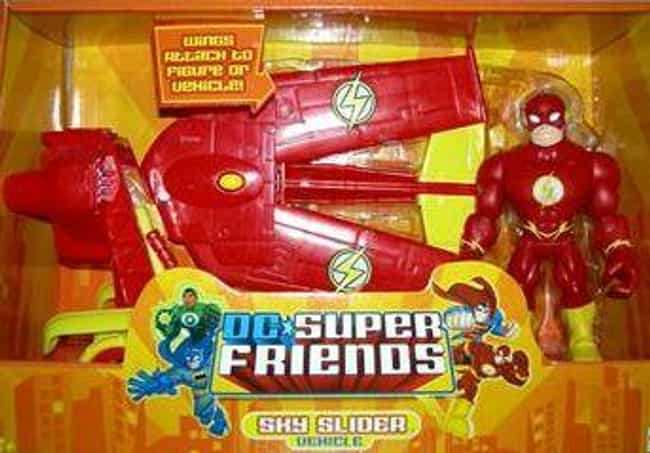 DC Super Friends The Flash Sky... is listed (or ranked) 3 on the list 14 Incredibly Lame Superhero Vehicle Toys That No '90s Kid Wanted
