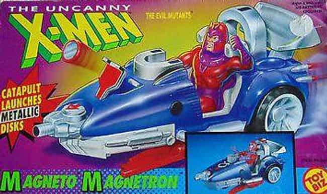 Uncanny X-Men Evil Mutants Mag... is listed (or ranked) 4 on the list 14 Incredibly Lame Superhero Vehicle Toys That No '90s Kid Wanted