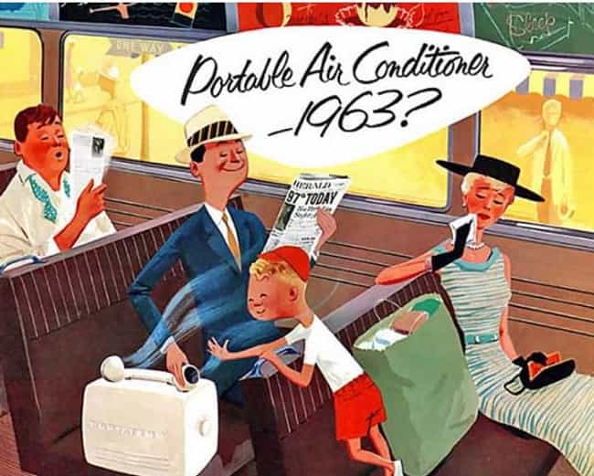 1955 Dares Envision Air-Condit... is listed (or ranked) 6 on the list 31 Hilarious Vintage Ads That Tried to Predict the Future