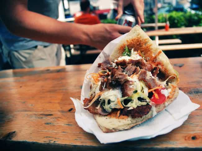 Kebabs - UK is listed (or ranked) 7 on the list Here's What Drunk People Eat Around the World