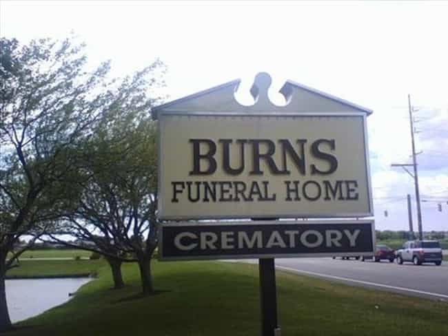 Up Front Advertising: Winning is listed (or ranked) 4 on the list 22 Morbidly Funny Funeral Home Signs