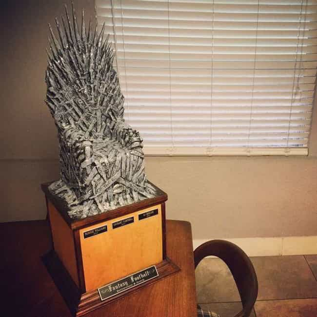 The Iron Throne is listed (or ranked) 3 on the list The Funniest Fantasy Football Trophies Ever Made