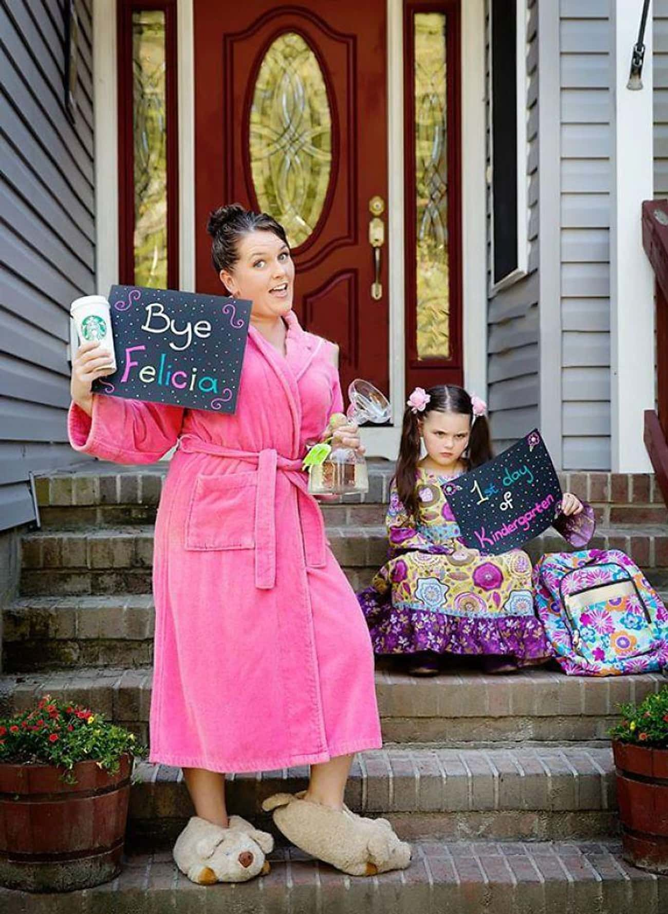 """""""Good Luck, Cupcake!"""" is listed (or ranked) 2 on the list 25 Funny First Day of School Pictures"""